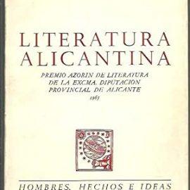 Las letras y las Artes alicantinas hasta 1870